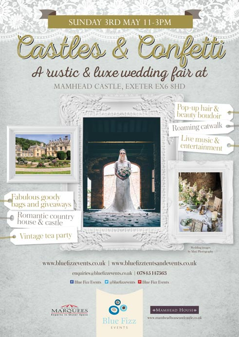 May 2015: Rustic and luxe wedding fair – Castles & Confetti at Mamhead House and Castle
