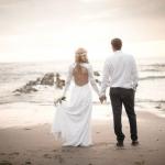 Devon beach wedding marquee 1