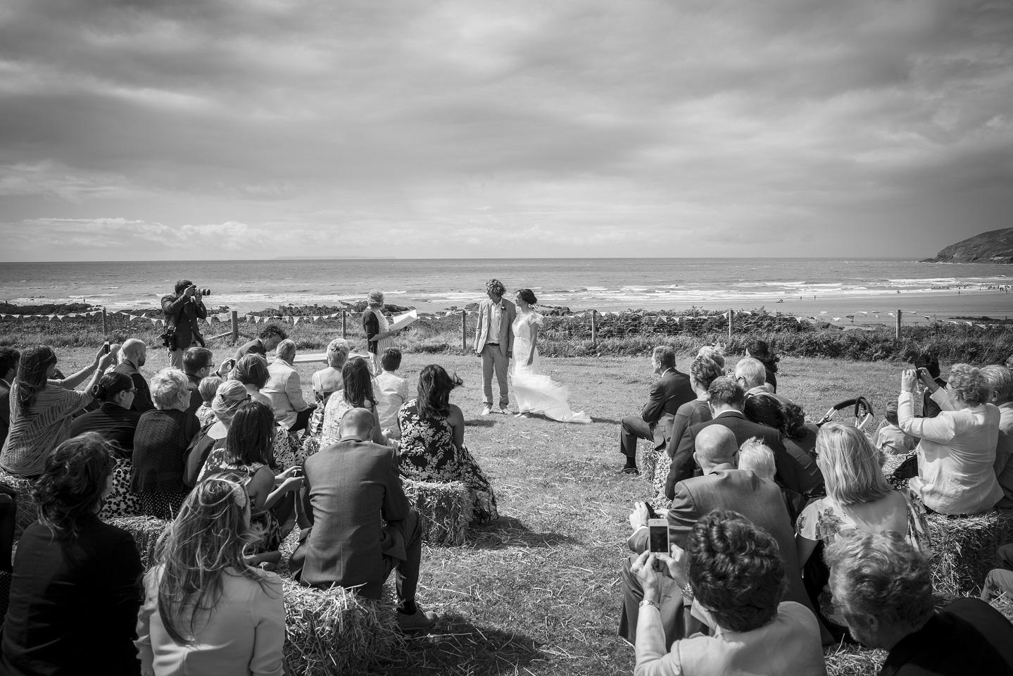 Outdoor Wedding Venue Croyde Beach North Devon Ceremony