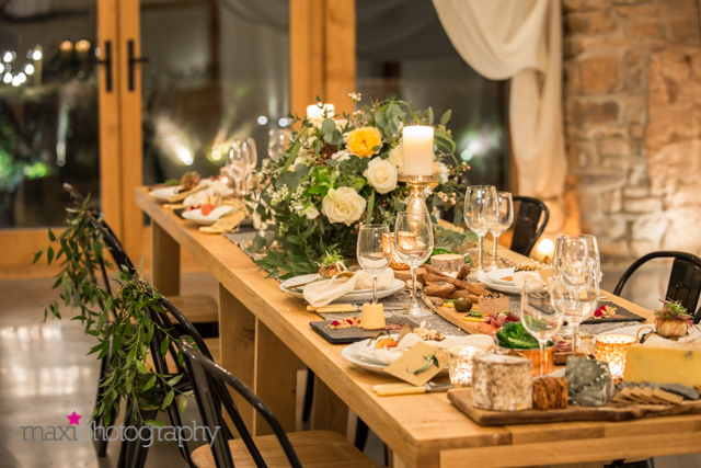 rustic winter autumn wedding table styling accessories devon