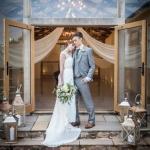 winter wedding devon autumn upton barn modern rustic