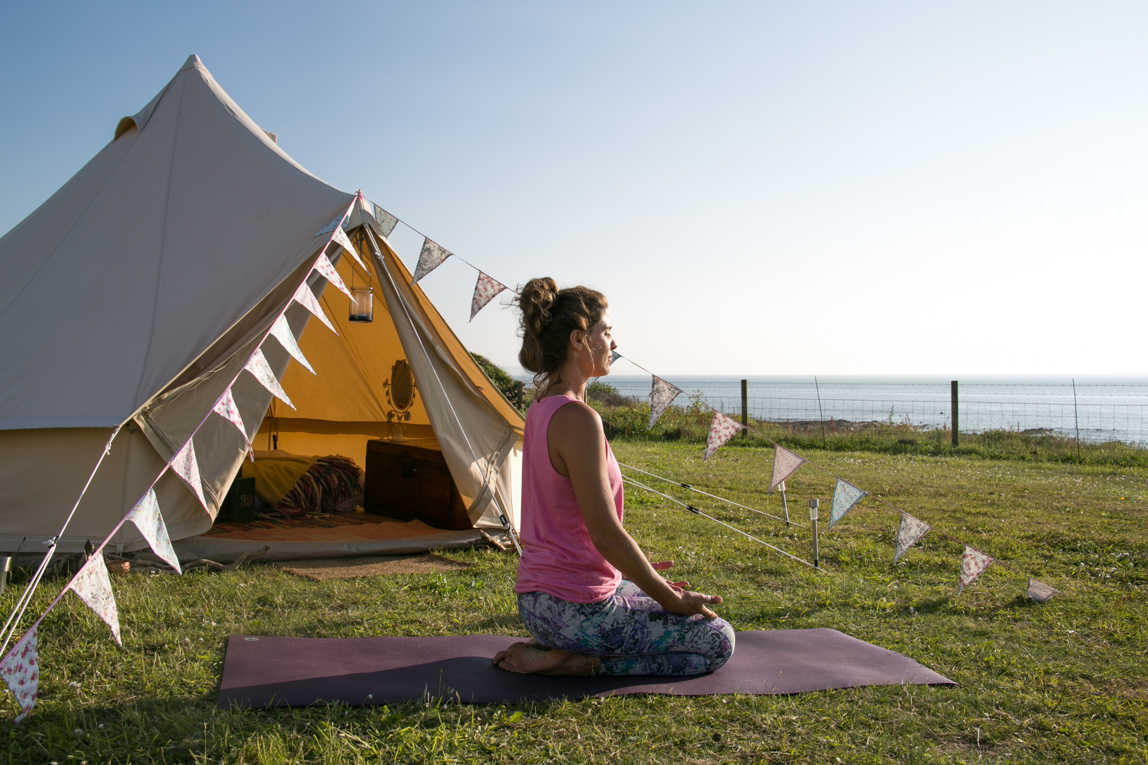 Surf yoga camp YogaGlamp Croyde Devon