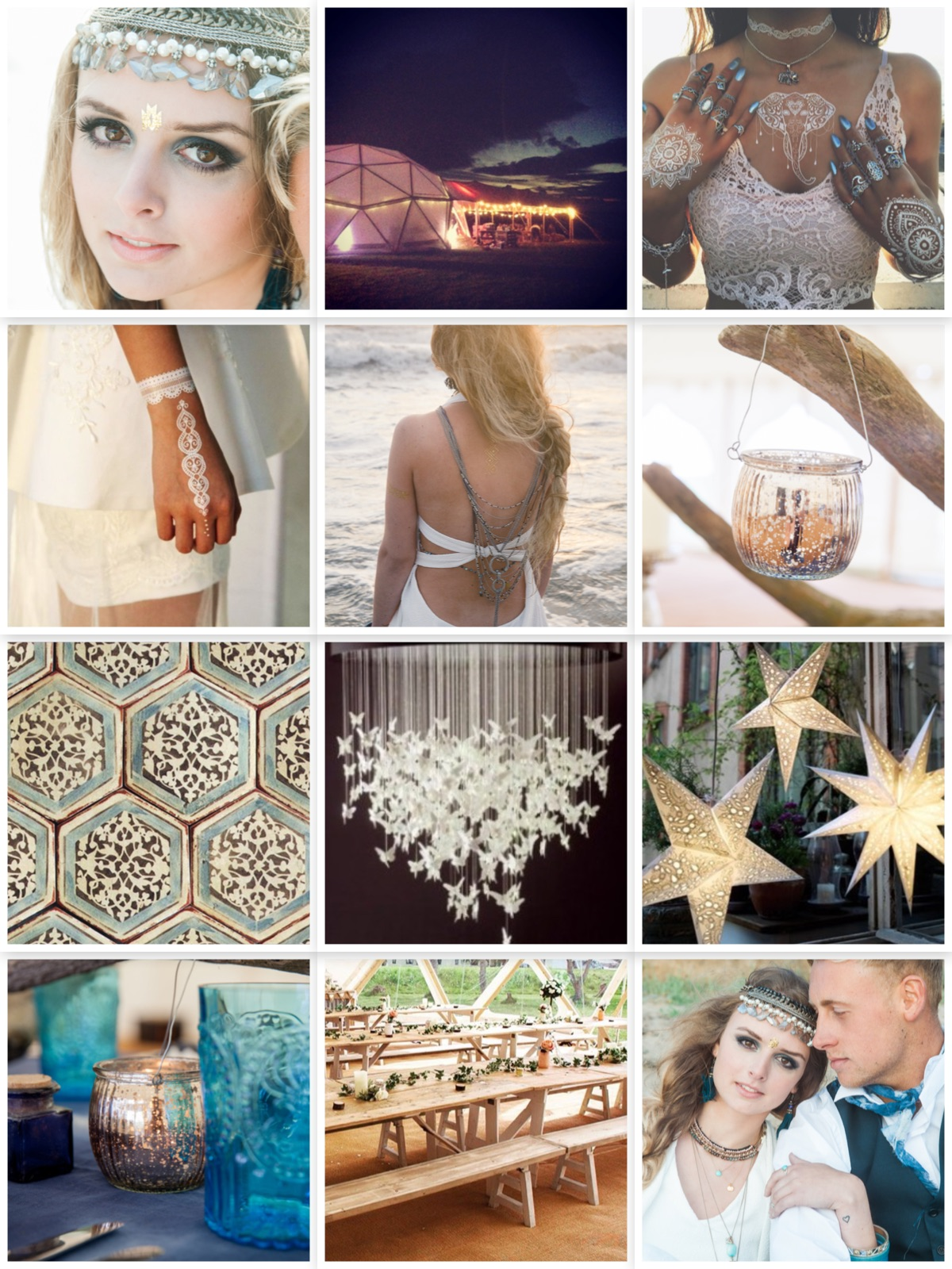 indian summer montage mood board