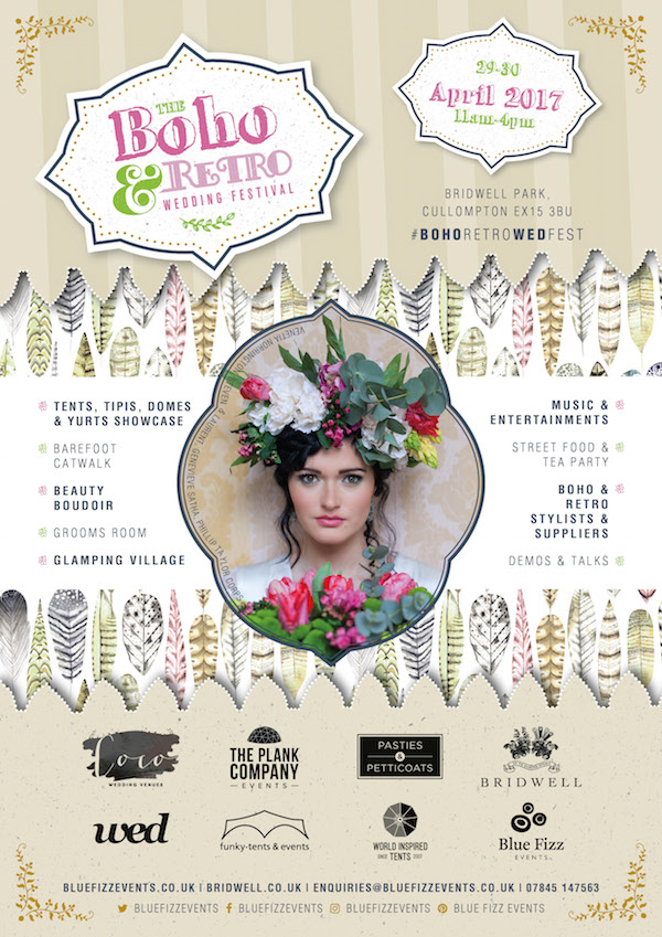Blue Fizz - Bridwell BOHO RETRO WEDDING FESTIVAL A4 Advert V4 SMALL