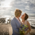 Croyde beach wedding marquee