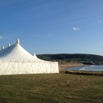 Devon beach wedding marquee croyde