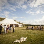 Devon beach wedding marquee croyde 2