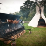 Farm field wedding venues devon festival (2)