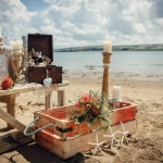 beach wedding north devon