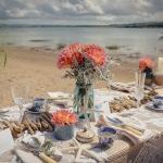 beach wedding styling
