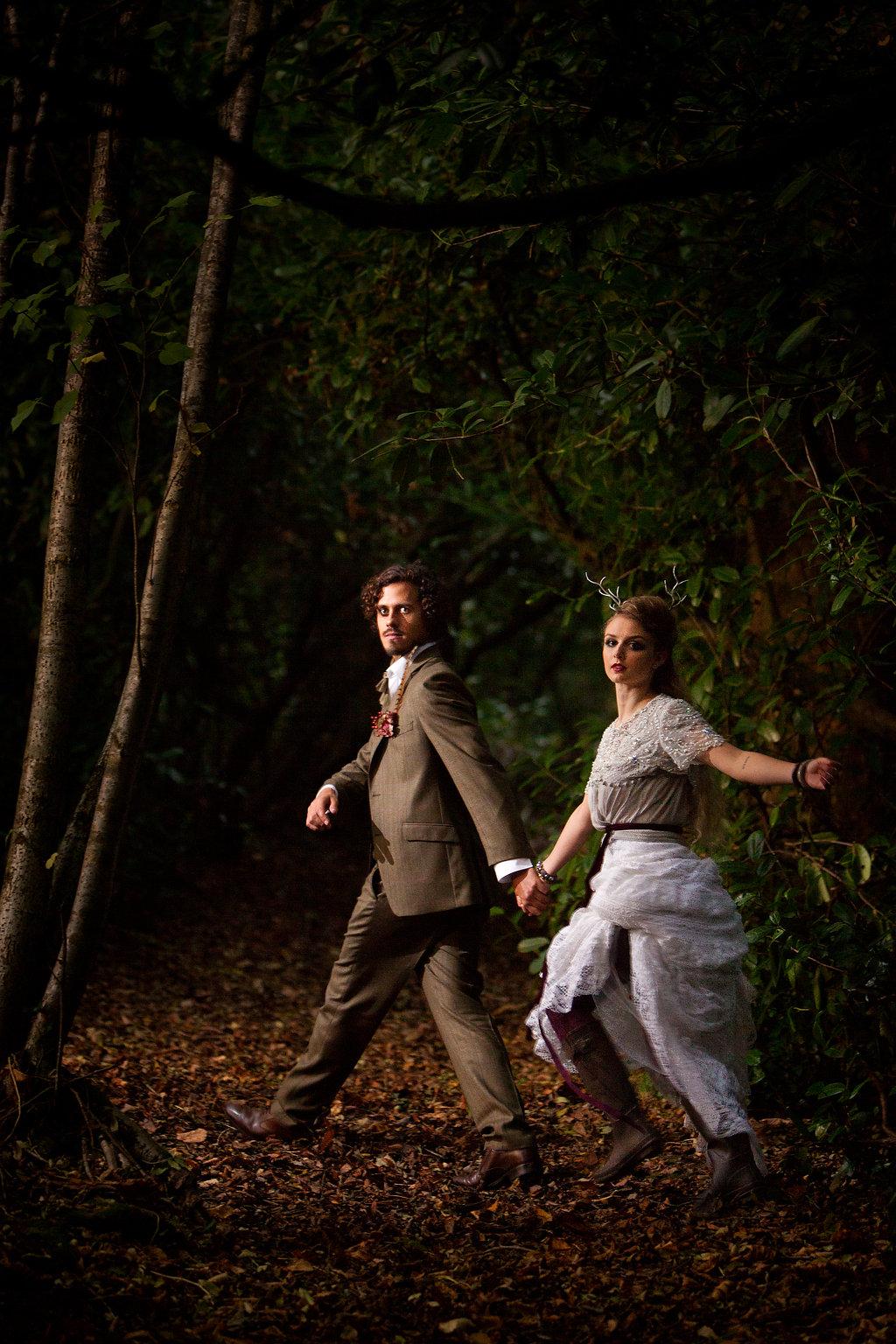 Winter weddings in Devon: Wild Woodland at Deer Park ...