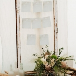 shabby chic table plan frame