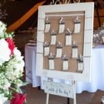 Hessian backed table plan & Easel