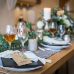 Autumn wedding devon styling table