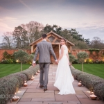 Autumn winter wedding outdoor devon Upton Barn