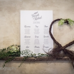 Modern rustic wedding stationary table plan