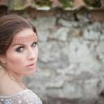 modern rustic autumn wedding makeup devon