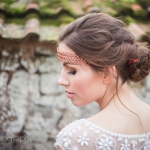 modern rustic wedding styling accessories hair devon