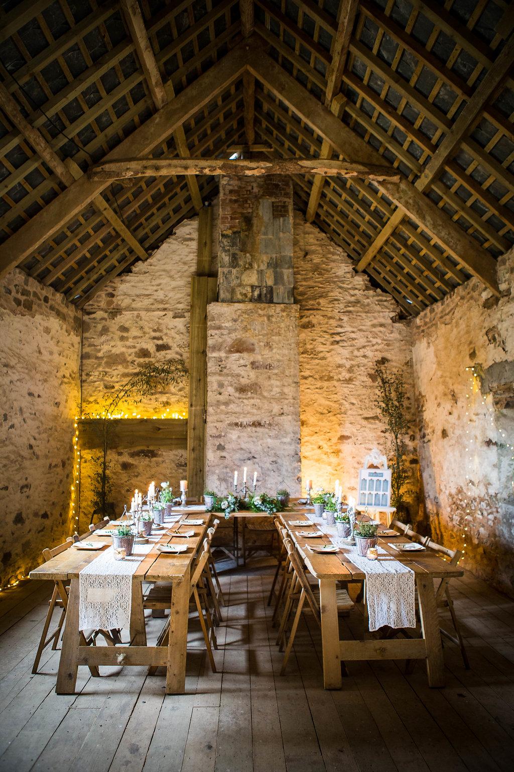 Rustic Barn Wedding Eco Green Wedding Devon National Trust